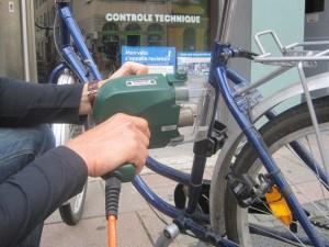 Marquage de Vélo samedi 30 mai lors de la Fête de BIOGOLFE