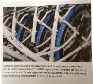 Les prêts de vélos aux étudiants continuent