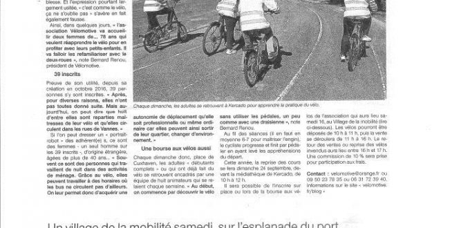 2ARTICLE VELOMOTIVE VEA OUEST FRANCE 14SEPT17