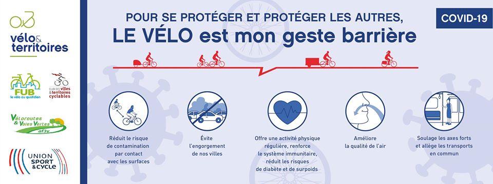 Le vélo, mon geste barrière !